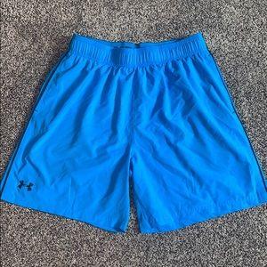 Under Armour Mens Blue Athletic Shorts SZ.XL